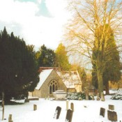 Bramdean Church in the snow